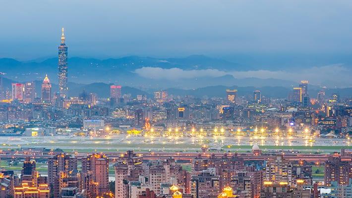 バニラエアの台湾桃園国際空港画像